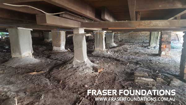 Fraser Foundations - Pier Replacement Sydney Newcastle - Before - Old Piers